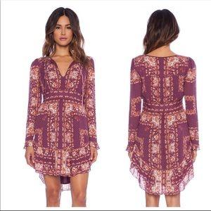 Free People | Bridgette Dress Berry Size Medium